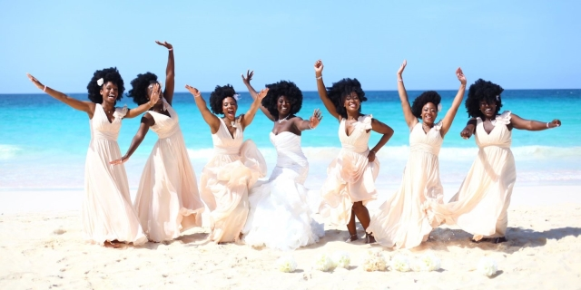 Nakyia Whitty and Bridesmaids